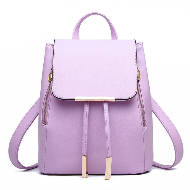 ed640c973e Fashion Women Leather Backpack Schoolbag For Teenage Girls Rucksacks Travel Shoulder  Bags Satchel Bags Designer High Quality
