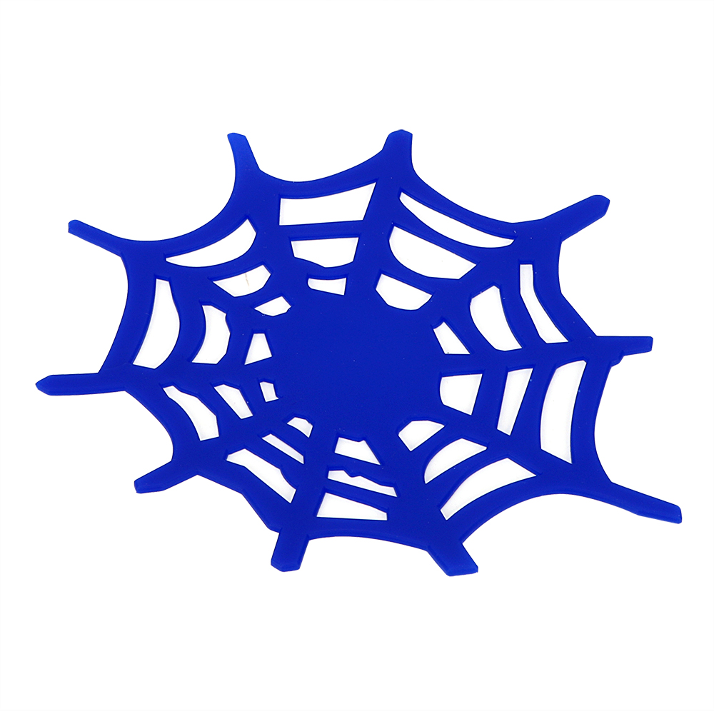 Blue Color High Quality Silicon Anti-slip Mat Spider style