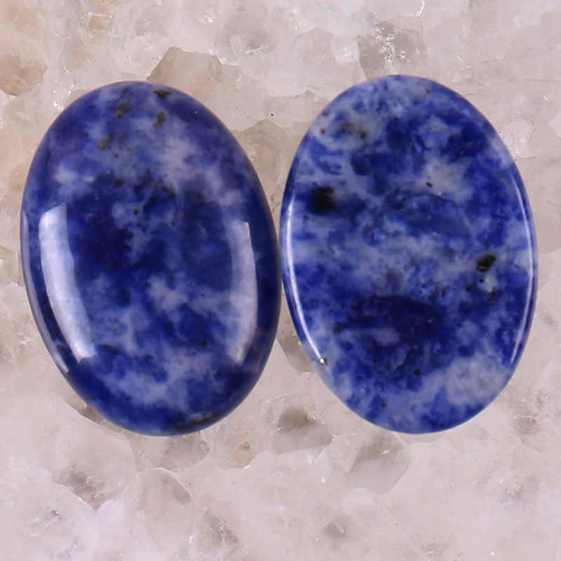 25x18MM Brazilian Sodalite Oval Cabochon Jewelry For Gift Making (2pcs/lot) H043