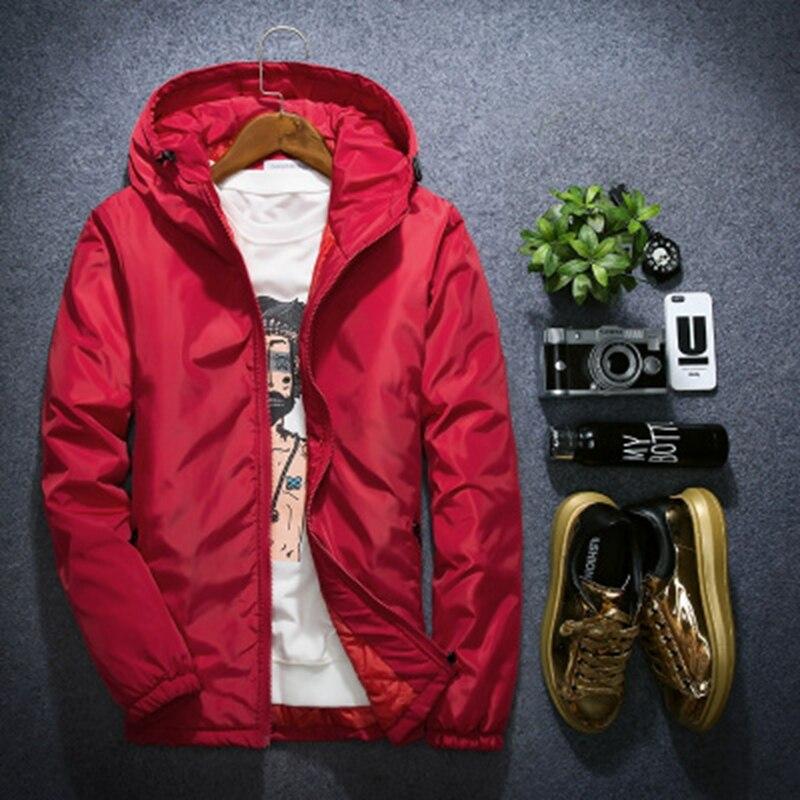 Brieuces 2018 new Autumn winter Mens Casual Hoodie Thick cotton coat Men's cotton   parkas   couple winter jacket Plus Size XS-8XL