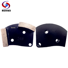 RIJILEI 3pcs/lot Metal Diamond Concrete Grinding Pad Scraper for strong magnetic plate of floor grinder 35*10mm*2T (A60)