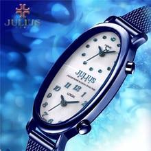 2016 Новое прибытие в Июле Двойной Часовой пояс Оболочки Близнецы женские Часы Япония Кварцевые Часы Мода Платье Браслет JA-913