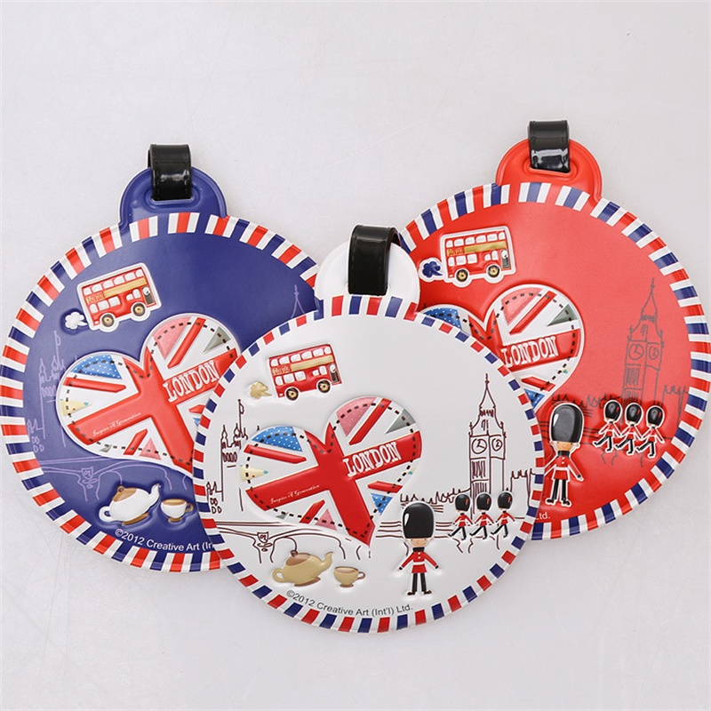 Round Style Design  I LOVE LONDON Travel Luggage Tags 9cm 50G