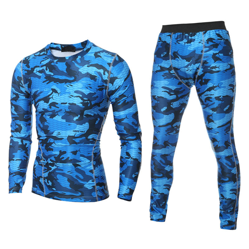FDWERYNHMen Sportswear Sets Short Sleeve T Shirts 3D Print Sport Joggers Tights Trainnin ...