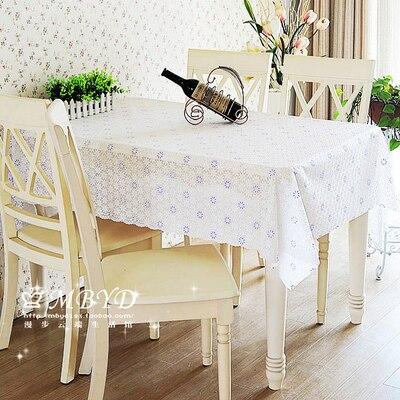 De style européen jardin Étanche sans à laver en plastique tissu nappe La table tissu PVC anti-huile Table café table tapis