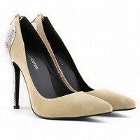 Wedding Bride Shoes Women Snakeskin Heel Beautiful High Heels Girl Birthday Party Shoes Pointed Toe 11cm Shoes Heel
