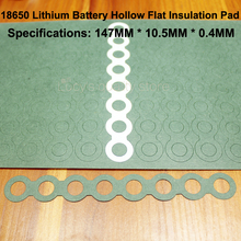 100pcs/lot Lithium-ion Battery Combination Insulating Gasket Meson 8s 18650 Hollow Flat Head Paper Insulation Pad 100pcs lot 18650 lithium battery insulation gasket meson flat head pad black fast paper diy fittings