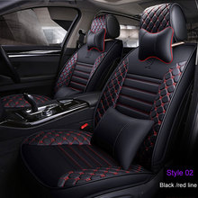 цена на 2019 Luxury PU Leather Car seat covers For Toyota Corolla Camry Rav4 Auris Prius Yalis Avensis SUV auto Interior Accessories
