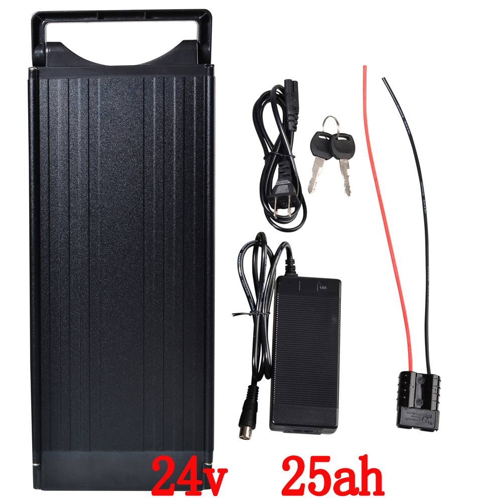 Free Customs taxes 24V 25Ah Lithium ion battery pack for Electric Bicycle 700W mid drive Bafang motor +2A Charger  +BMS free customs taxes factory36 volt battery pack with charger and 20a bms for 36v 10ah lithium battery