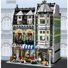 2462Pcs City Street Creator Green Grocer Model Building Kits Minifigure Blocks Bricks