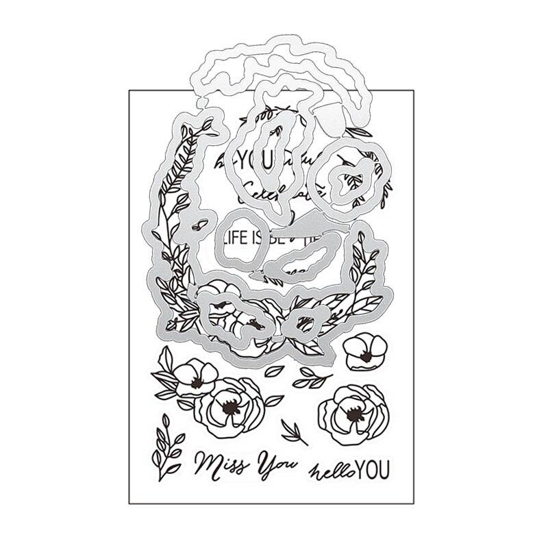 Crown Bloom Metal Cutting Dies And Stamps DIY Scrapbooking Card Stencil