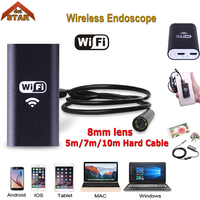 Stardot Wifi USB Endoscope Android Cmos 8mm Waterproof 6led Borescope Endoscope Inspection Car Visual Camera Copper
