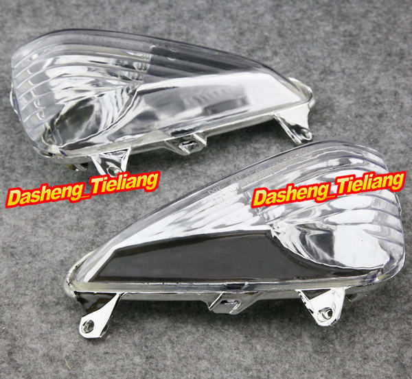 Motorcycle Front Turn Signals Indicator Lamp Blinker Lens Cover For Honda CBF600S VARADERO XL 1000 V 2004-2016 Clear + E-Mark