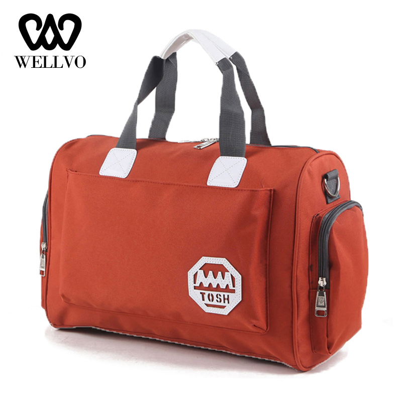 Fashion Nylon Travel Bag Large Capacity Men Hand Fitness Weekend Bag Women Multifunctional Men And Women Sac Duffle Bags XA729WB