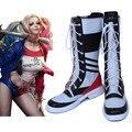 Motocicleta joker y harley quinn disfraces sapato chaussure comando suicida adult costume cosplay zapatos de plataforma