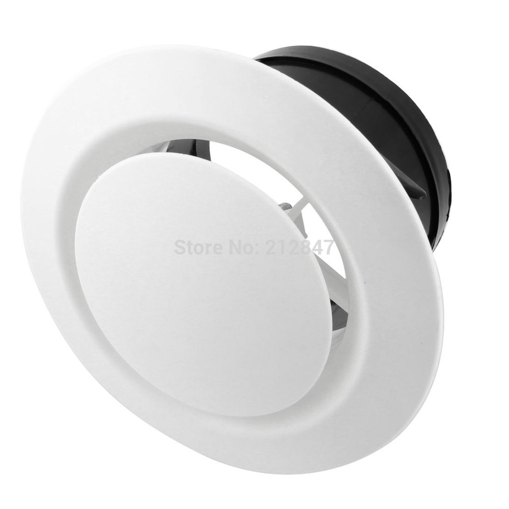 100mm Mounting Dia Adjustable Disc Type Round Air Vent Outlet Ventilation Grill Cover Flange