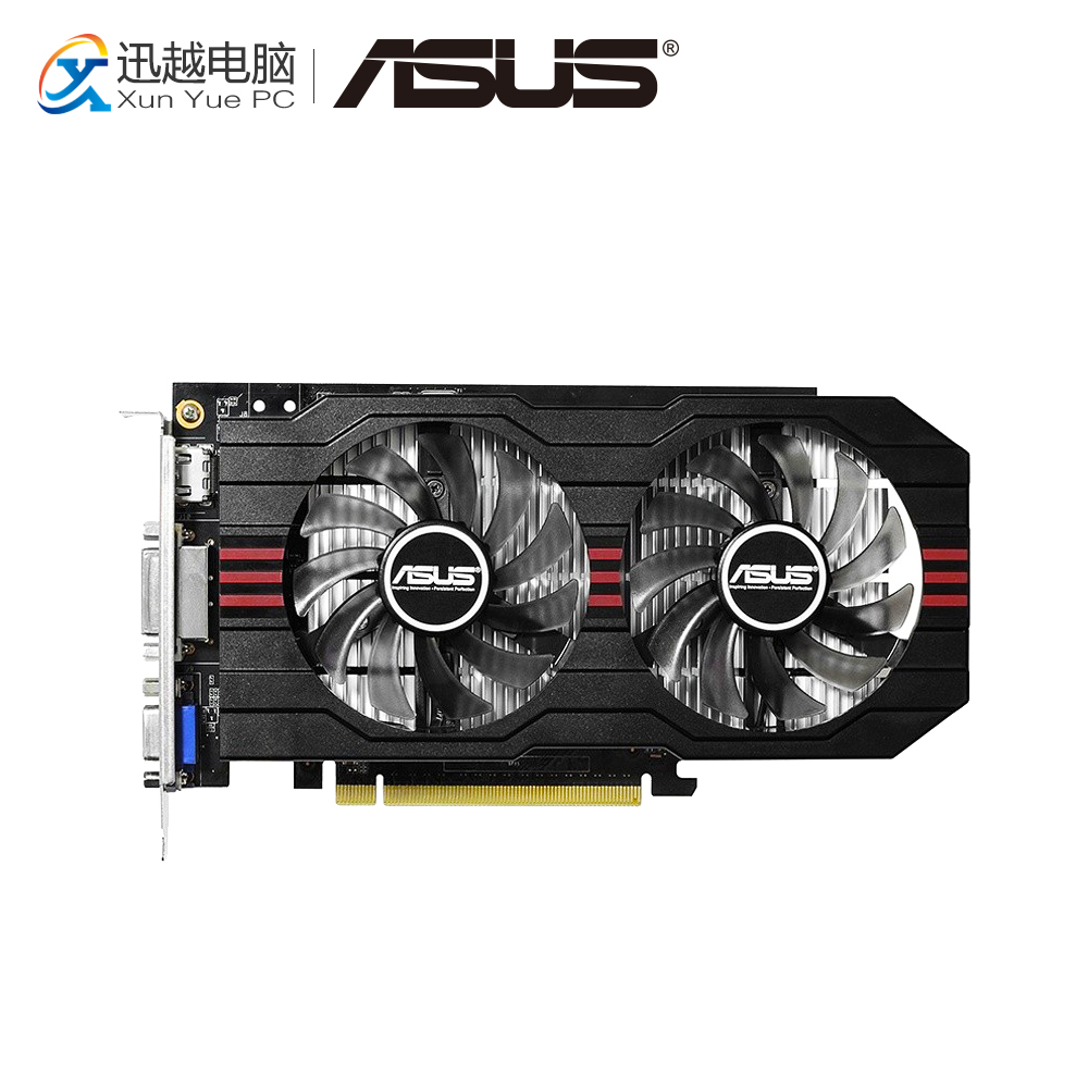 ASUS GTX 750-DF-2GD5 GDDR5 Original Graphics Cards 2G GDDR5 128 Bit GTX750 Video Card VGA DVI HDMI For Nvidia Geforce GTX 750 цены онлайн
