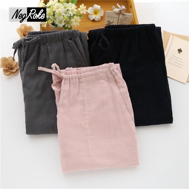 Nueva venta Caliente Sping 100% algodón pijamas de las mujeres bottoms sueño confort casual ladies home pantalones duermen pantalones para las mujeres