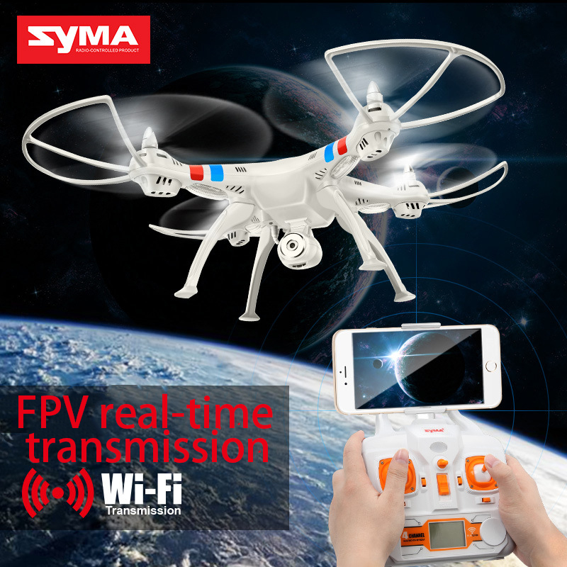 Syma X8W RC Drone Wifi FPV Camera HD Video Remote Control LED Quadcopter Toy Helicoptero Air Plane Aircraft Children Kid Gift 902s remote control drone wifi fpv rc helicopter hd camera video quadcopter kids toy drone aircraft air plan toys children gift