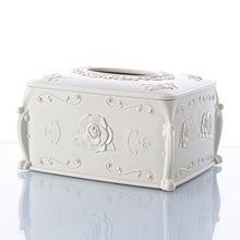 Европейский стиль, резная Роза, бумажная коробка для хранения полотенец, домашний кухонный стол, настольный бумажная салфетка, коробка для хранения бумаги