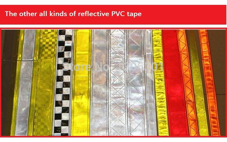 5cm pvc reflective tape fluorescent yellow safety warning reflective strip Garment accessories belt marked vest ribbon