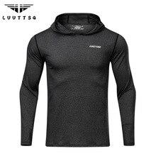 Running T-Shirts Long Sleeve Compression Sports Jacket Men Shirt Hat Gym Clothing Rashgard Sportswear Fitness Running T-shirts