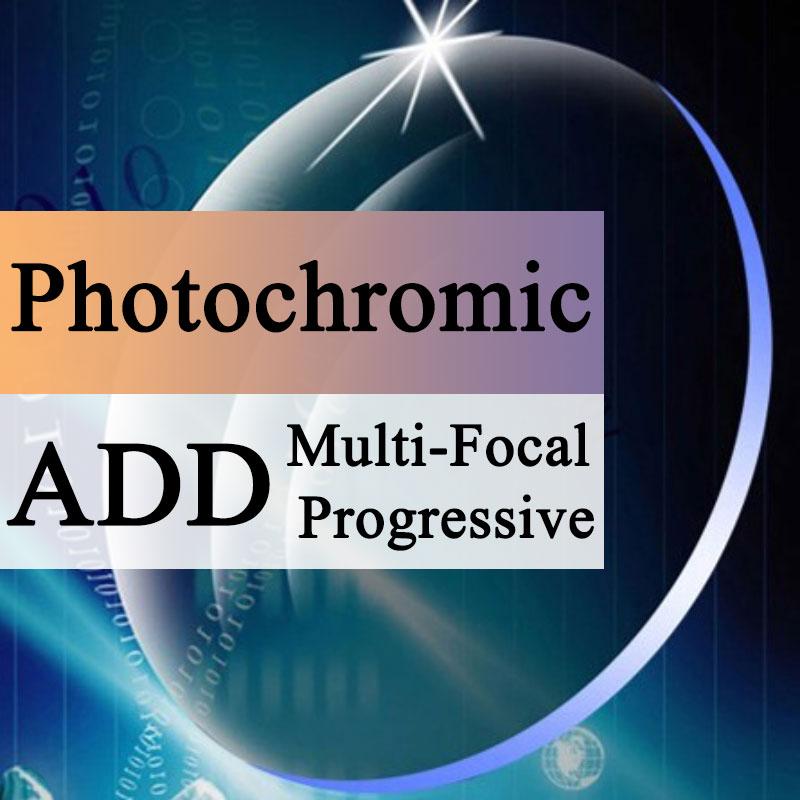 A Pair Optical Lens Progressive Multi focus Photochromic Myopia Presbyopia Scratch resistant 1 56 1 61