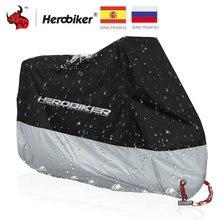HEROBIKER мотоциклетный чехол для улицы с УФ-защитой для скутера, чехол для велосипеда, водонепроницаемый пылезащитный чехол для мотоцикла, чехол для дождя, дизайн с замком и отверстиями для помещений