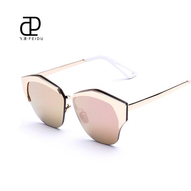 FEIDU High Quality Semi Rimless Sunglasses Women Brand ...