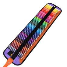 Mini estuche de tela para lápices escolar estuche de penalización de rollo 72 agujeros niños niñas niños dibujo bolsa pluma bolsillo + 72 Uds lápices de colores