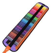 มินิโรงเรียนกรณีดินสอม้วนผ้าใบโทษPencilcase 72หลุมเด็กสาวเด็กวาดปากกากระเป๋ากระเป๋า+ 72ชิ้นที่มีสีสันดินสอ