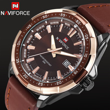 2016 New Fashion Men Military Sports Watches Men's Quartz Auto Date Clock Top Brand Luxury Man Leather Strap Casual Wrist Watch