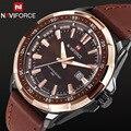 2016 Nuevos Hombres de la Moda Militar Deportes Relojes Cuarzo de Los Hombres de Auto fecha Del Reloj Superior de la Marca de Lujo de Hombre Correa de Cuero Reloj Casual reloj