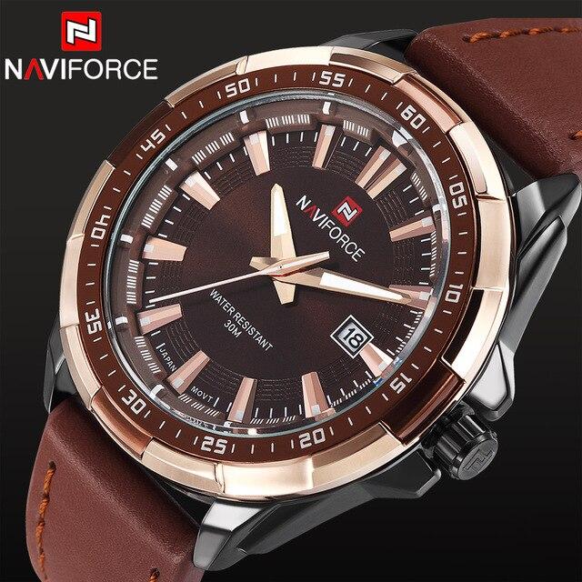 532df9443b9 2018 Nova Moda Homens Esportes Militares Relógios de Quartzo dos homens  Auto data Homem Relógio Marca