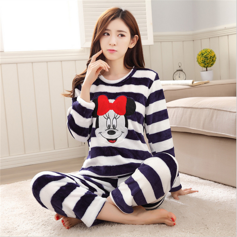 Online Get Cheap Striped Flannel Pajamas Women -Aliexpress.com ...