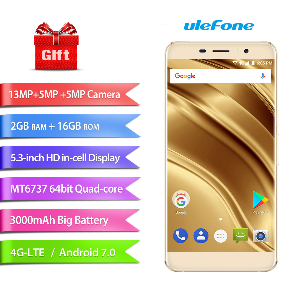 Ulefone S8 Pro Mobile Phone 5 3 MT6737 Android 7 0 Quad Core 13MP 5MP 2GB