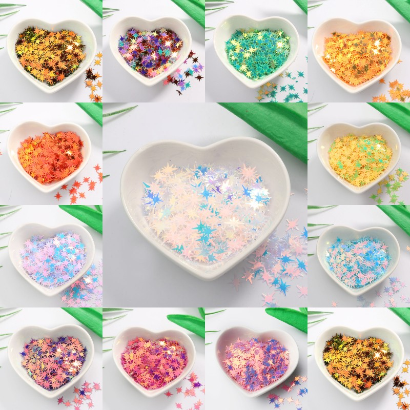 9mm Clusters of stars Sequins for Nail Art Colorful Glitter Paillette DIY Decoration Manicure Accessories 10g