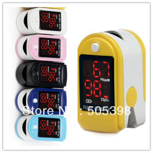 FDA CE Certified Fingertip Pulse Oximeter Spo2 Monitor, CMS50DL Blood Oxygen Saturation Monitor with Free Air Mail Shipping