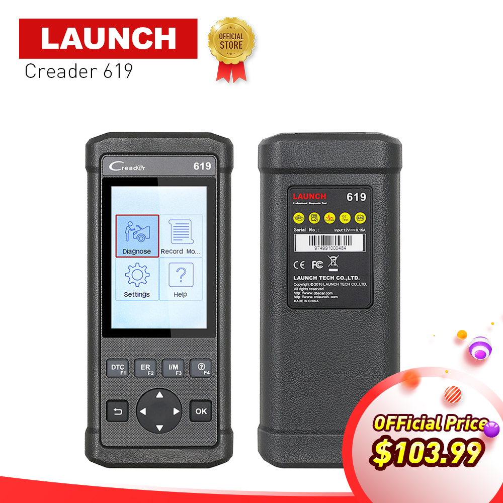LAUNCH OBD2 OBDII CReader 619 ( Creader 6011 ) Diagnostic Scan Tool Support ABS,SRS Systems OBD 2 scanner diagnostic-tool CR 619 lexia 3 diagnostic tool lexia3 pp2000 obd2 tool escaner automotriz auto diagnostic scanner for car lexia 3 diagbox 7 83 7 65