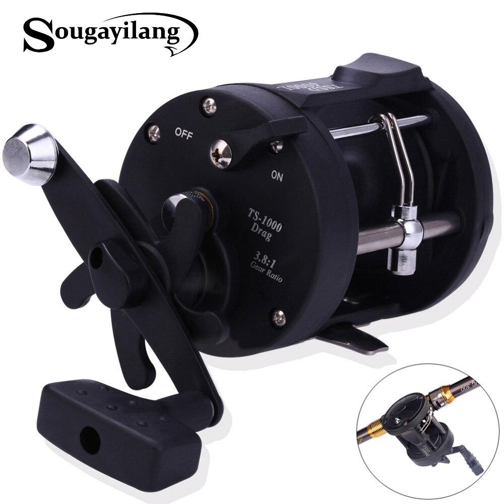 Sougayilang Reel Angeln TSSD 3000L-4000L Schwarz Rechts Hand Casting Sea Fishing Reel Salzwasser Baitcasting Spule