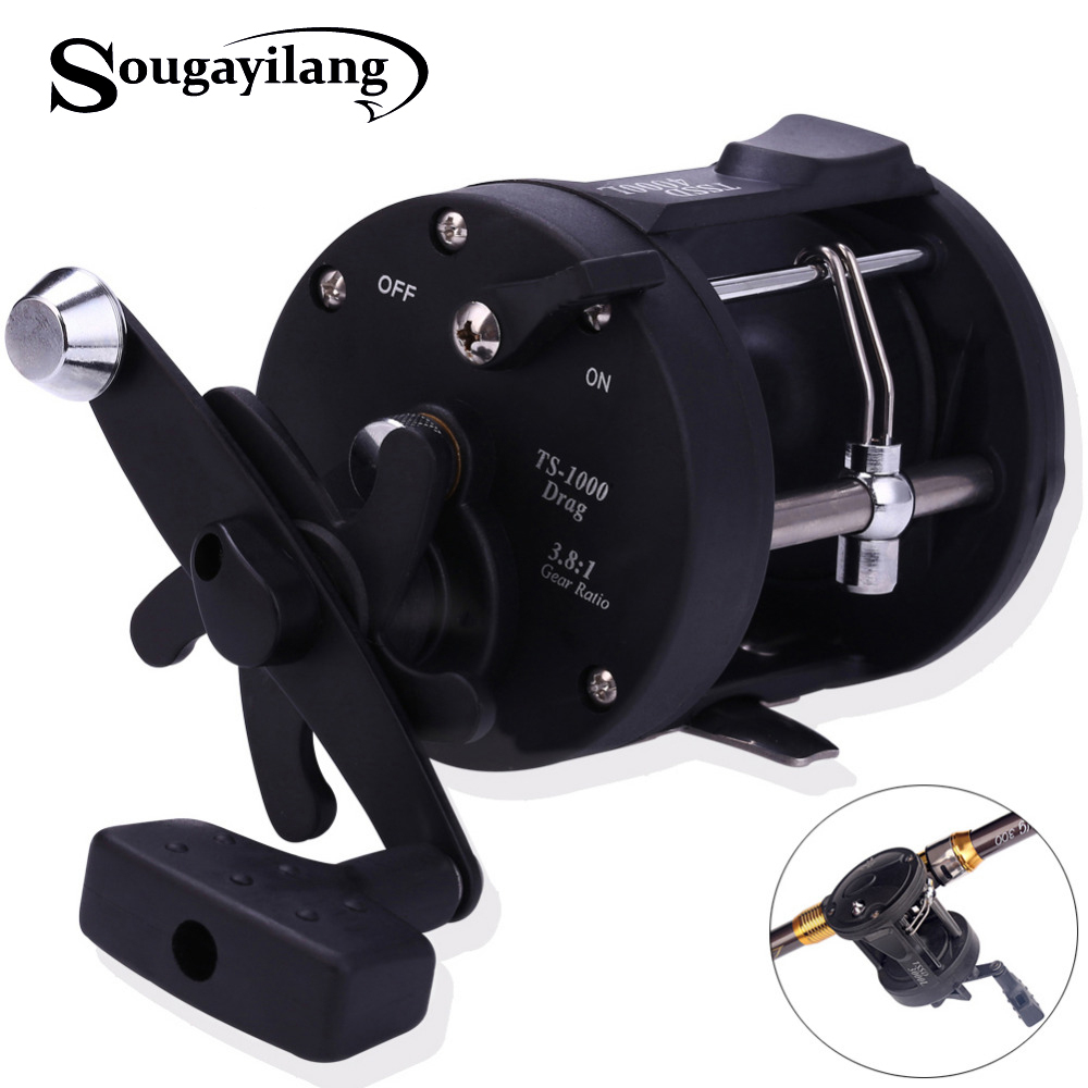 Sougayilang Reel Fishing TSSD 3000L 4000L Black Right Hand Casting Sea Fishing Reel Saltwater Baitcasting Coil