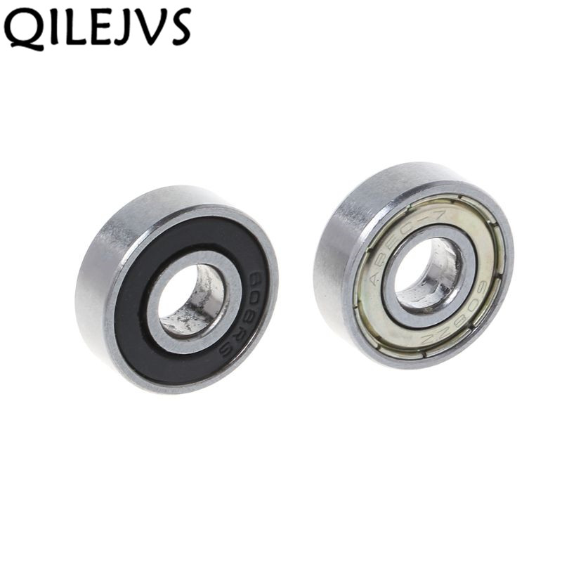QILEJVS  10 Pcs Bike Skateboard Scooter Ball Roller Bearing Skate Spare Parts Groefkogellagers 8 X 22 X 7 Mm-608ZZ/608RS