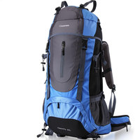 60L Internal Frame Long Haul Climbing Bag Rucksack Travel Camping Hiking Backpack Mountaineering Bag With Rain