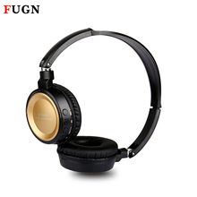 FUGN 3d Stereo HiFi Quality Sound Bluetooth Wireless Headphone for Android Phone Xiaomi with Microphone MicroSD/TF FM Radio MP3(China)