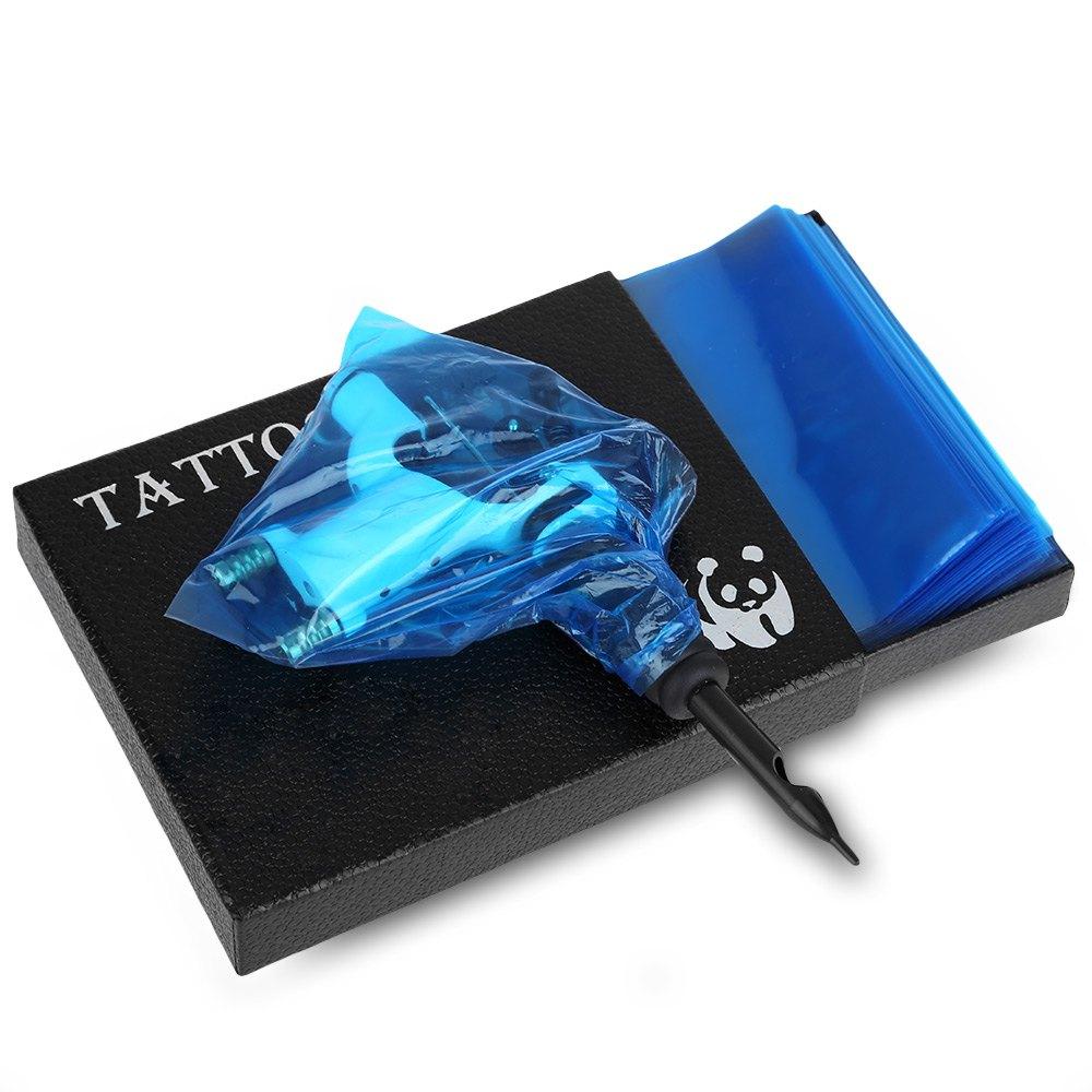 200 stk plast blå 2016 engangs tattoo maskin bagdeksel forsyning ny - Tatovering og kroppskunst - Bilde 1