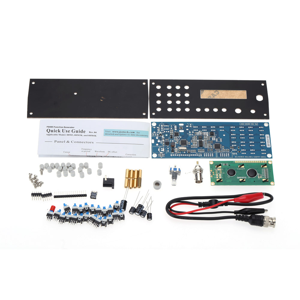цена на SOFT-Digital Synthesis Signal Generator dds function signal generator diy kit +Panel Sine Square Sawtooth Triangle-Wave genera