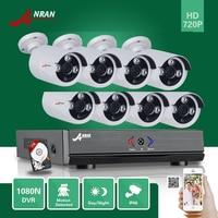 ANRAN 8CH Hybrid 720P AHD DVR 1800TVL Waterproof Array IR Outdoor Home CCTV Security Camera System