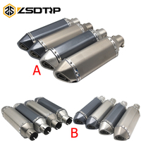 ZSDTRP 2 Model Universal Modified Escape Moto Akrapovic Exhaust Motorcycle Scooter Dirt Bike Muffler Pipe For R6 YZF1000 R1 CBR
