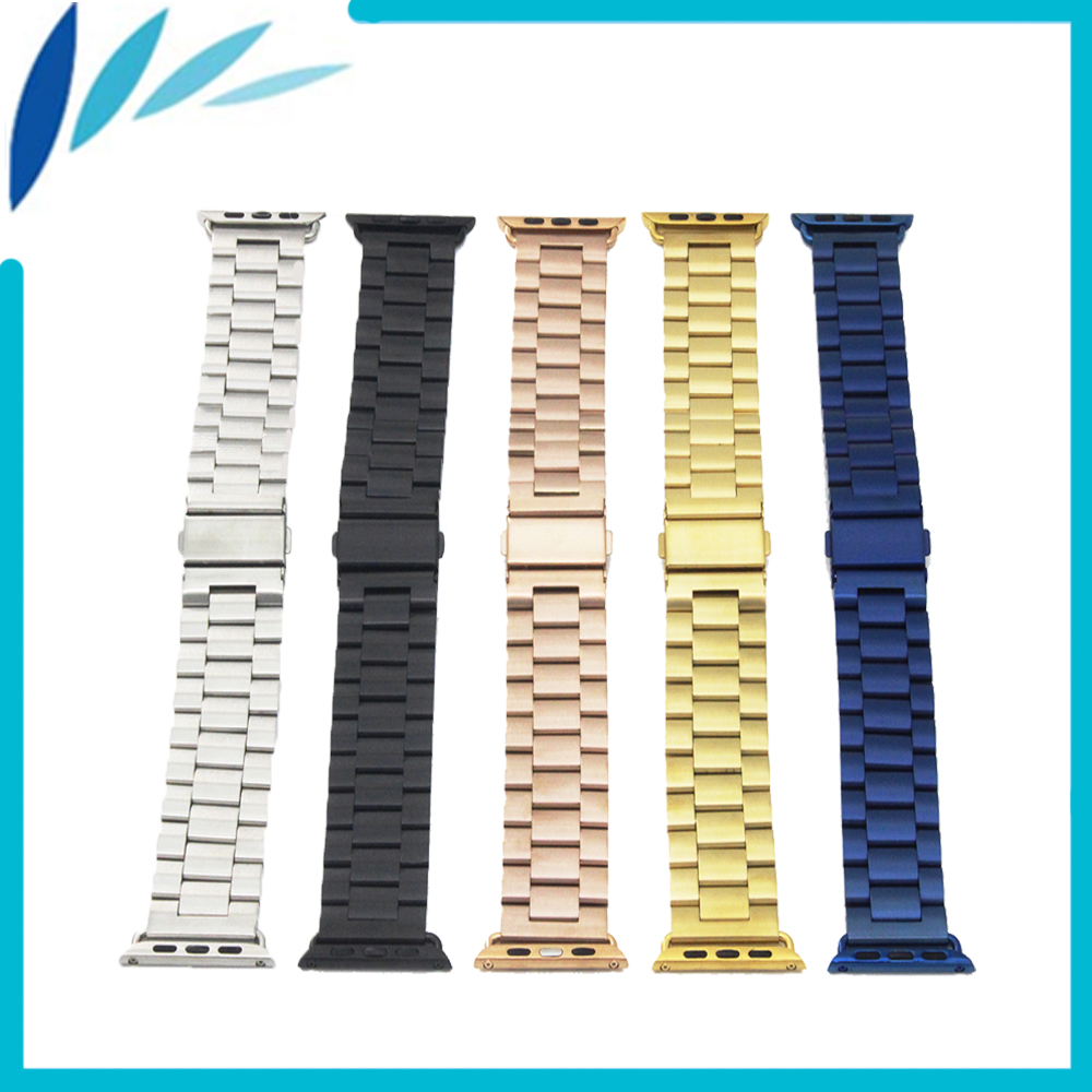 Stainless Steel Watchband for iWatch Apple Watch Sport Edittion 38mm 42mm Folding Clasp Strap Band Wrist