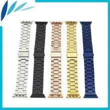 Bracelet En Acier inoxydable pour Apple iWatch Montre/Sport/Edittion 38mm 42mm Boucle Déployante Courroie De Poignet ceinture Bracelet